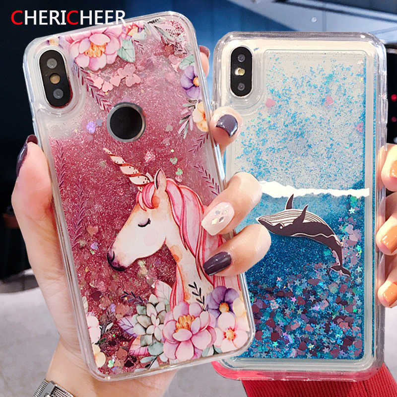 Jednorożec Glitter obudowa do xiaomi Redmi 7 Silicon Liquid Case do xiaomi Redmi Note 7 7A K20 Pro uwaga 8 Pro Case Redmi Note 7 okładka
