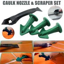 Caulk Nozzle Scraper Set Reusable Sealant Angle Scraper Silicone Grout Caulk Tools