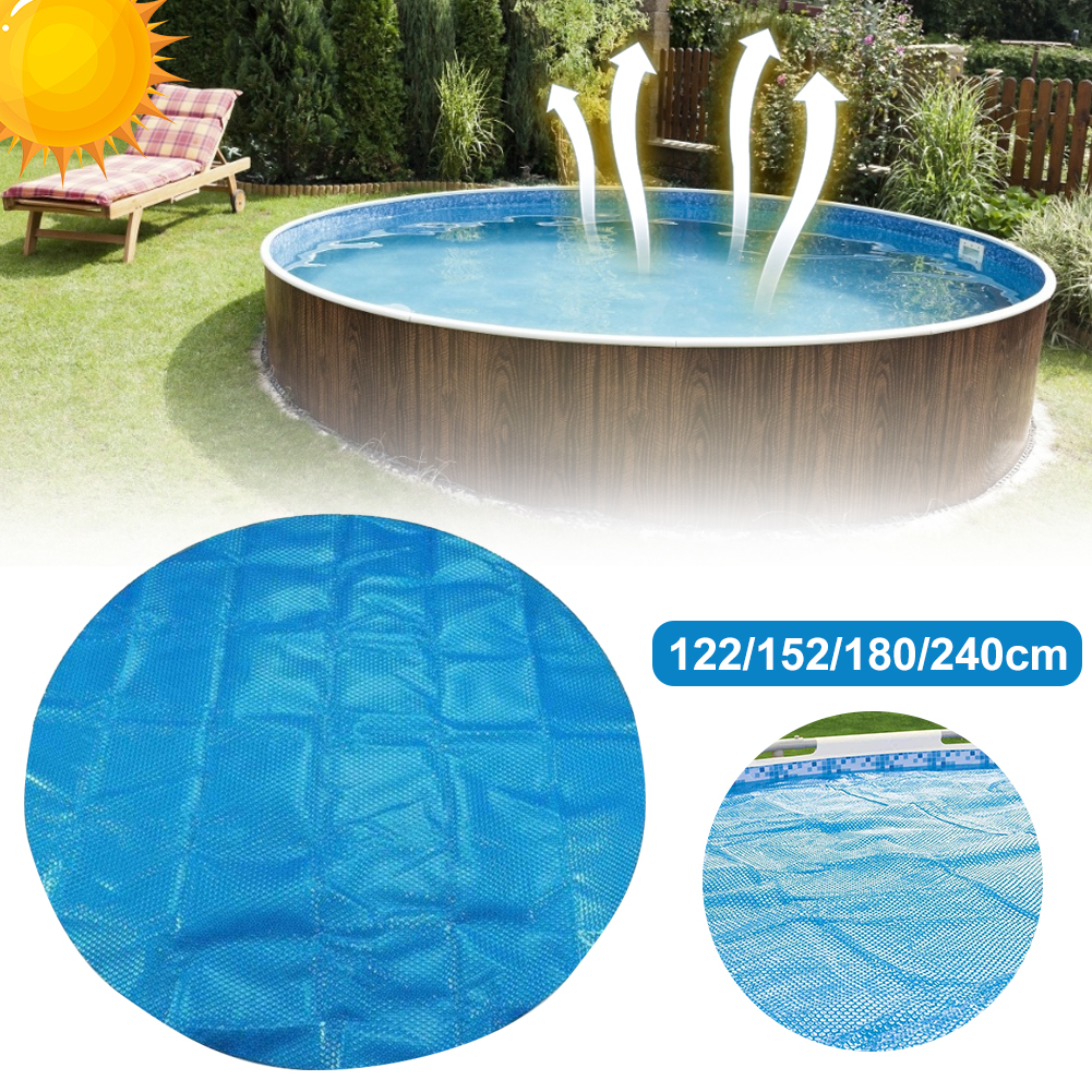 Pool Cover Swimming Round Pool Solar Cover Protector Waterproof Dust Swimming Pool With Rope Insulation Film Home Pool Accessor