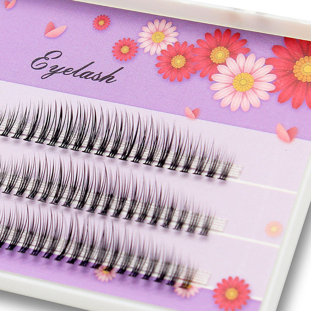 Kimcci C/D/DD Curl Mix Length 3D Mink Eyelash Extension Natural Russian Volume False Eyelashes Makeup Faux Fake Lashes Cilias 4