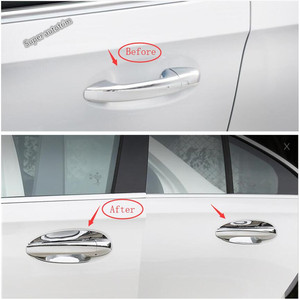 Lapetus Outside Door Pull Doorknob Hand-clasping Bowl Cover Trim Fit For Mercedes-Benz CLA 200 C118 W118 2020 2021 Exterior Kit