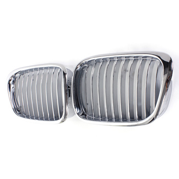 Pair Front Kidney Grille Grill Chrome Car Racing Grills For BMW E39 5 Series 525i 530i 540i 1995-2004