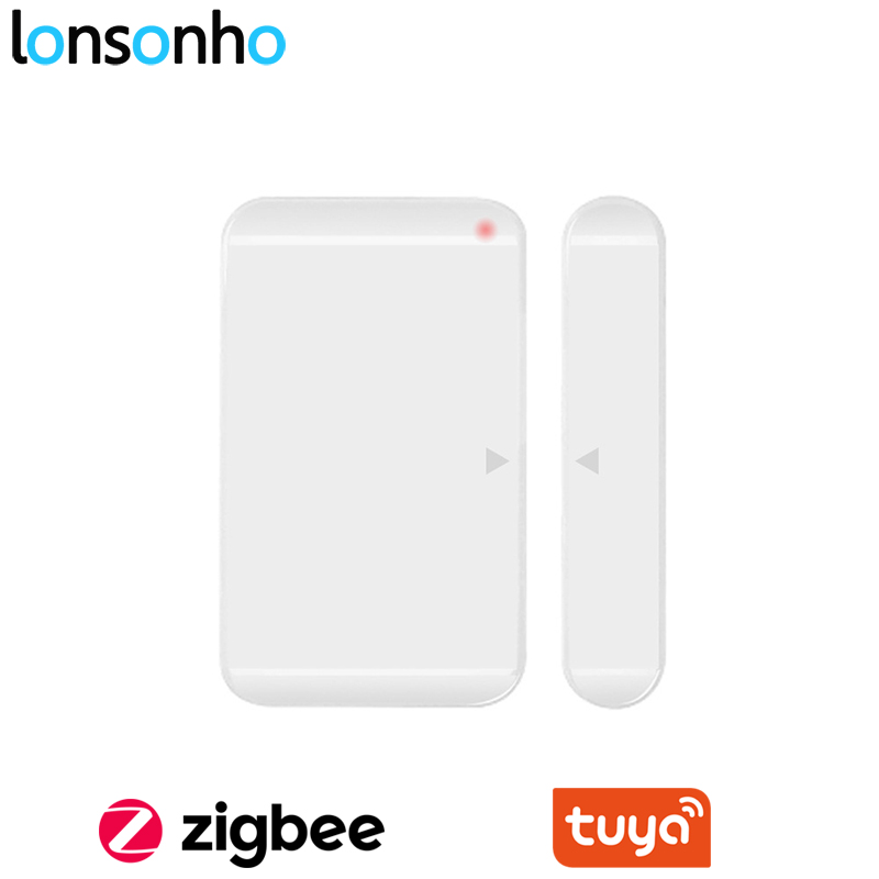 Lonsonho Tuya Zigbee Door Window Sensor Smart House Home Security Alarm Works With Tuya Zgbee HUB