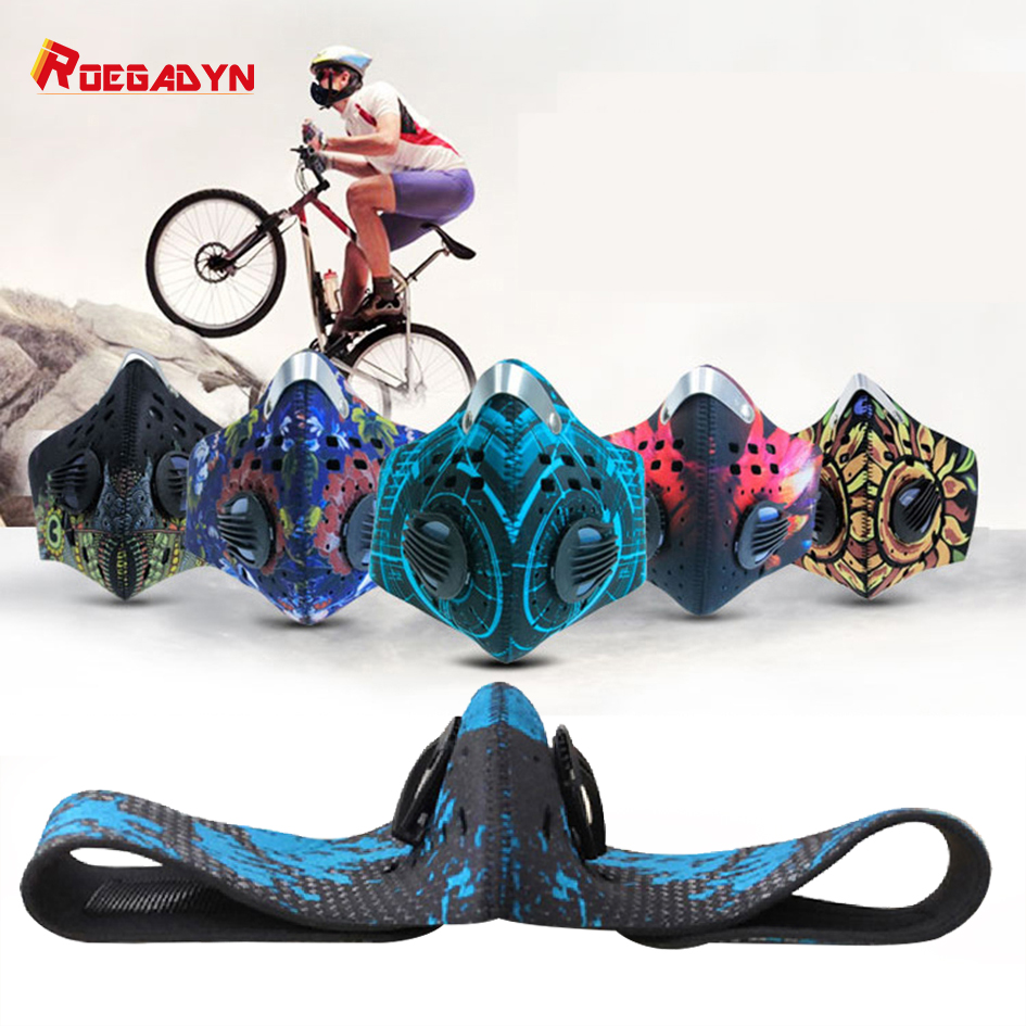 Outdoor Running Sports Anti-haze Riding Mask Windproof Dustproof Warm Mask Cycling Tactical Carbon Anti-PM2.5 Mask