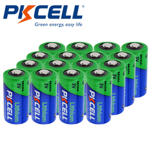 12Pcs PKCELL Lithium battery CR123A CR 123A CR17345 16340 cr123a 3v Non-rechargeable Batteries for Camera Gas meter primary dry