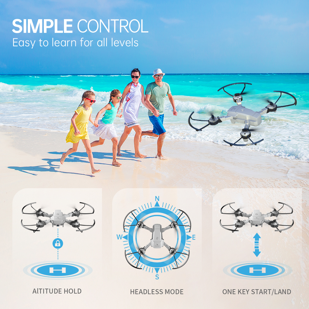 cheapest Quadcopter SNAPTAIN A10  Mini drone Foldable Drone 720P HD Camera FPV WiFi RC Voice Control Gesture Control3DFlipsChristmas gift