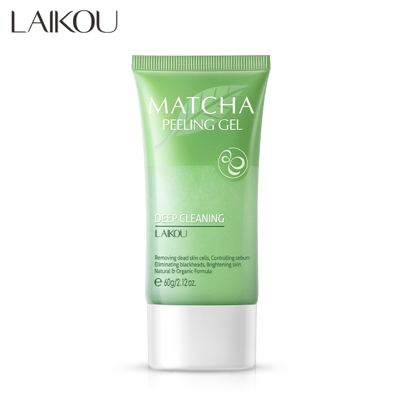 Facial Exfoliator Deep Cleansing Matcha Peeling Gel Exfoliating Cream Whitening Exfoliante Face Cream Scrub Deep Pore Removal