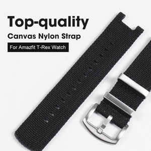 Image 1 - NATO Nylon Watch Strap For Huami Amazfit T Rex Watch Band With Screen Film For Amazfit T Rex Watch Charger