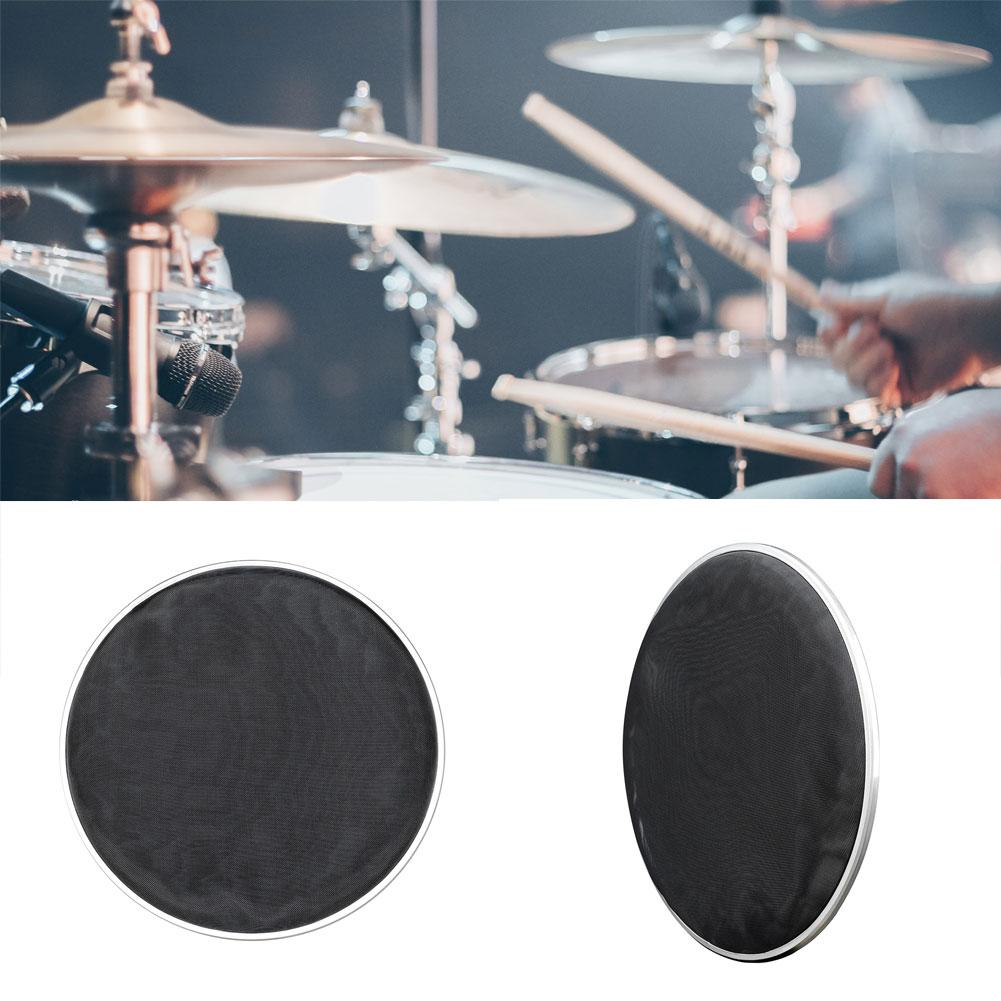 1pc Double Layer Nylon Mesh Drum Head Silent Pad Skin Percussion Instrument Parts Mesh Drum Head Silent Pad Skin Percussion Inst