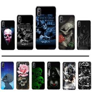 Art skull DIY Luxury Phone Case For iphone 4 4s 5 5s 5c se 6 6s 7 8 plus x xs xr 11 pro max
