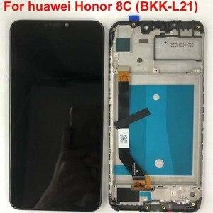 Image 3 - Rahmen + Original 6,26 LCD Für Huawei Ehre 8C LCD Display Touchscreen Digitizer Montage Für Honor Paly 8C BKK AL10 BKK L21 LCD