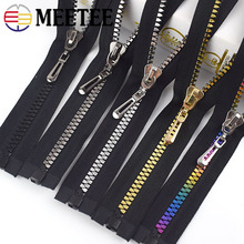 Meetee 2pcs 80cm 8# Resin Zipper for Sewing Jackets Coat Open-end Auto Lock Zippers DIY Garment Decoration Accessories KY921