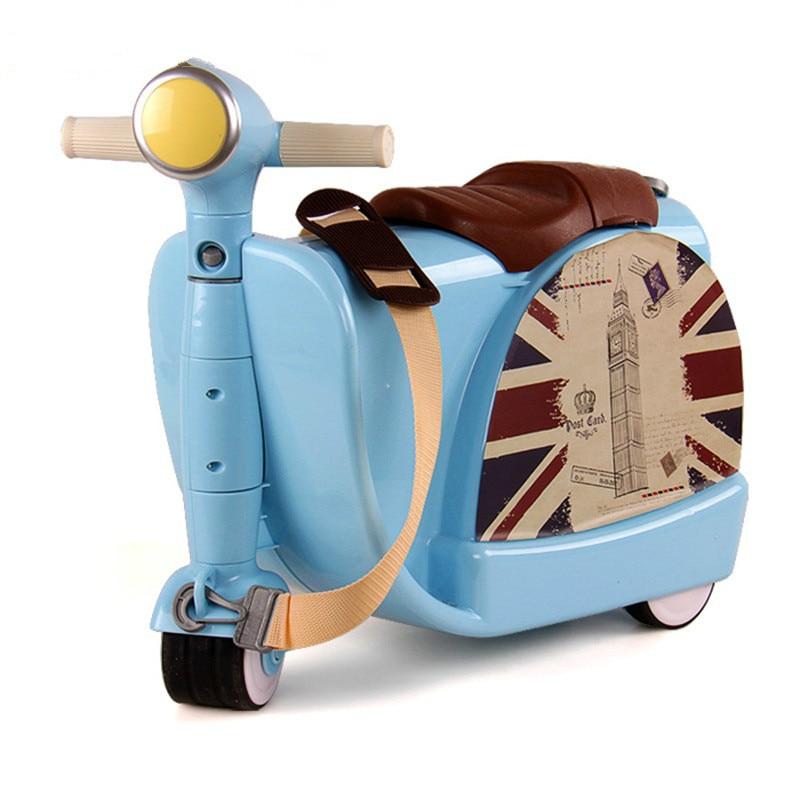 Baby Creative Toy Box Luggage Suitcase Pull Rod Box Children Travel Locker Handbag Boy Girl Can Sit To Ride Check Box Luggage