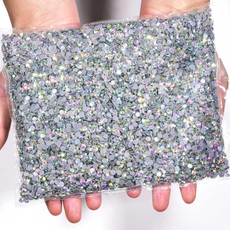 14400 قطعة/حقيبة السائبة 41 ألوان الجملة عالية الجودة أفضل DMC الإصلاح العاجل أحجار الراين SS6-SS20 كريستال الإصلاح الساخن حجر الراين F0248