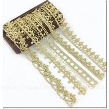 Gold Embroidery Decoration-Supplies Ribbon Craft Crochet Fringed Wedding-Dress 1-Yard