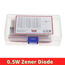 600 pces 2v-39v 30 valores 1/2w 0.5w diodo zener jogo sortido 20 pces cada valor