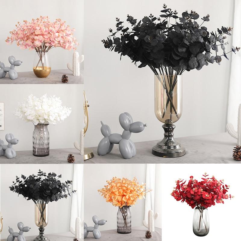 1pcs 47cm Kayu Putih Buatan Buket Bunga Bud Dengan Harga Murah Palsu Bunga Rumah Pernikahan Dekorasi Dalam Ruangan Kayu Putih Robusta Smith Buatan Bunga Kering Aliexpress