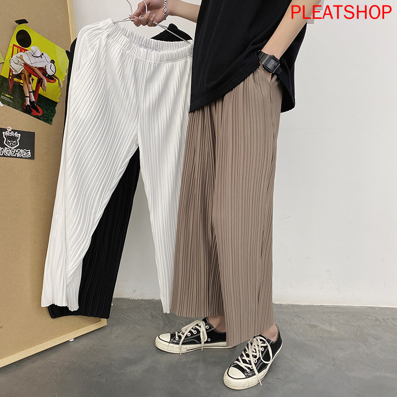INS Net Red Summer Thin Style Casual Pants Men and Women Students Capri Loose Straight-Leg Pants All-match Pants