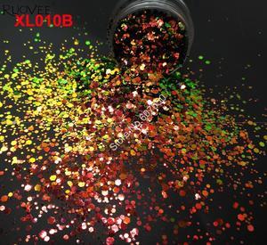 Image 2 - 5 FARBEN Chameleon Glitter Mixed Metallic Glanz Hexagon Form Nail art für Handwerk Dekorationen Make Up Facepainting DIY Zubehör