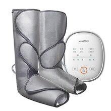 Compressão de ar perna pé massageador vibração infravermelho terapia braço cintura ar pneumático envolve 2 modos 2temp promover o sangue relaxar