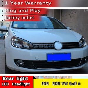 Image 3 - Car Styling 2010 2013 for VW Golf 6 Headlights  Volkswagen Golf LED Headlight DRL Bi Xenon Lens High Low Beam Parking Fog Lamp