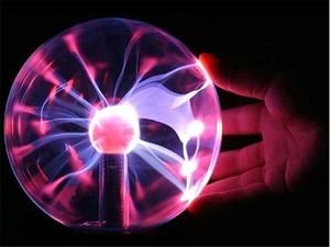 Image 4 - 8 polegada/203mm plugue da ue novidade iluminação plasma bola de vidro lâmpada esfera mágica decorativa lâmpada natal ano novo crianças presente