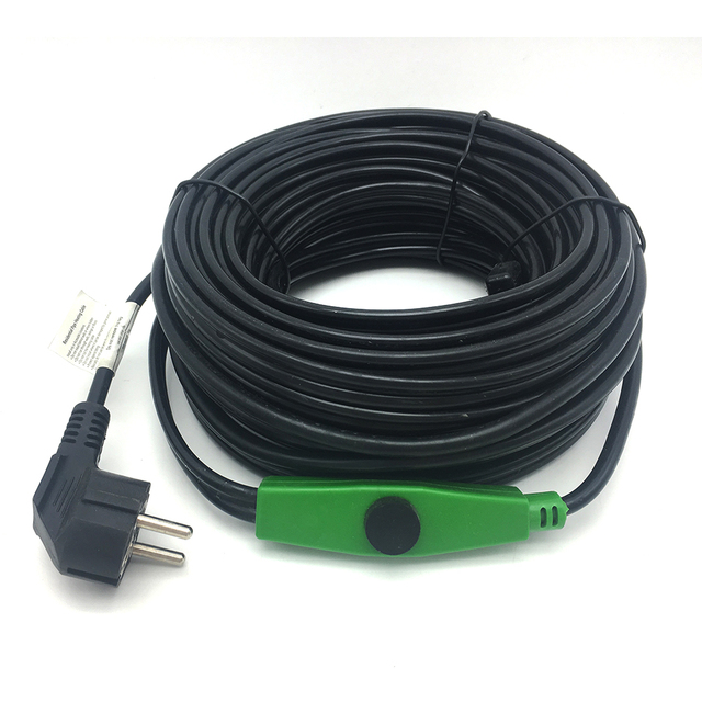 16 w/m przewód do ogrzewania przeciw zamarzaniu ochrona przed mrozem przewód grzejny 220v z kontrolerem mini intelligent