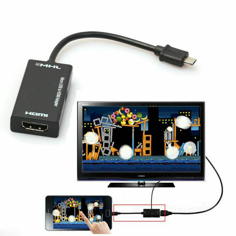 PYMH 17CM Mini Micro USB 2.0 MHL To HDMI 1080P TV Adapter Cable For Samsung Galaxy US