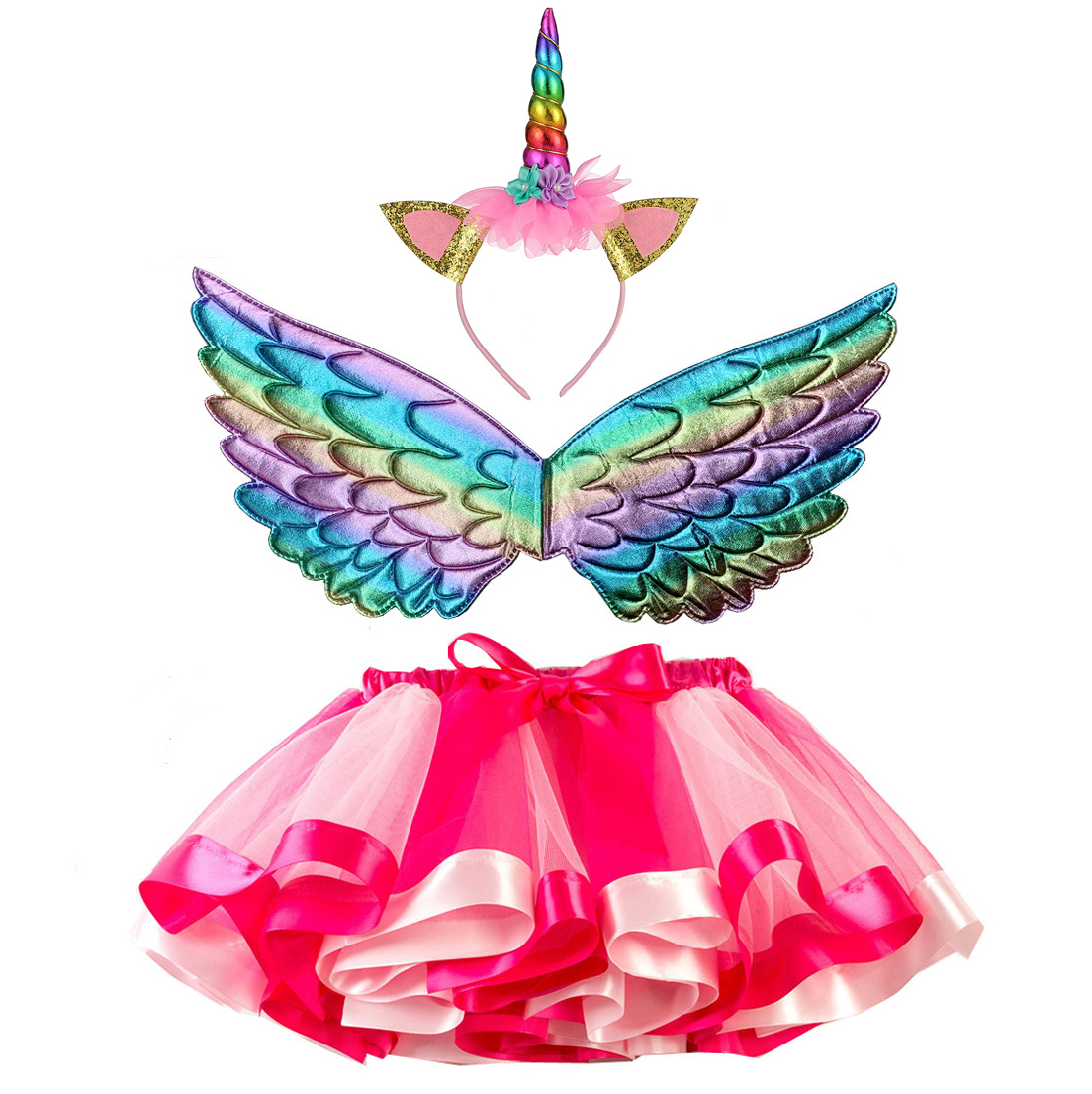 Carneval Party Kids Head Animal Costume Kostim Children New Years Eve Unicorn Costume For Girls