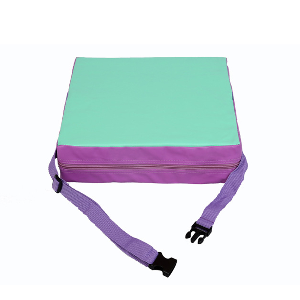Portable Soft Increased With Strap Chair Cushion Home Office Dining Square Detachable Kids Children Washable Abrasion-resistant