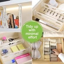 Регулируемые разделители для ящиков Органайзер выдвижной стрейч хранения перегородки Многоцелевой DIY для спальни ванной комнаты шкаф B