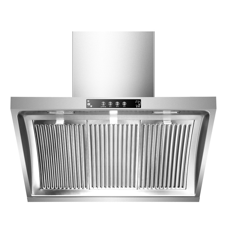 Household Exhaust Hood 304 Stainless Steel Range Hood Household Kitchen Extractor Hood 900mm Side Suction