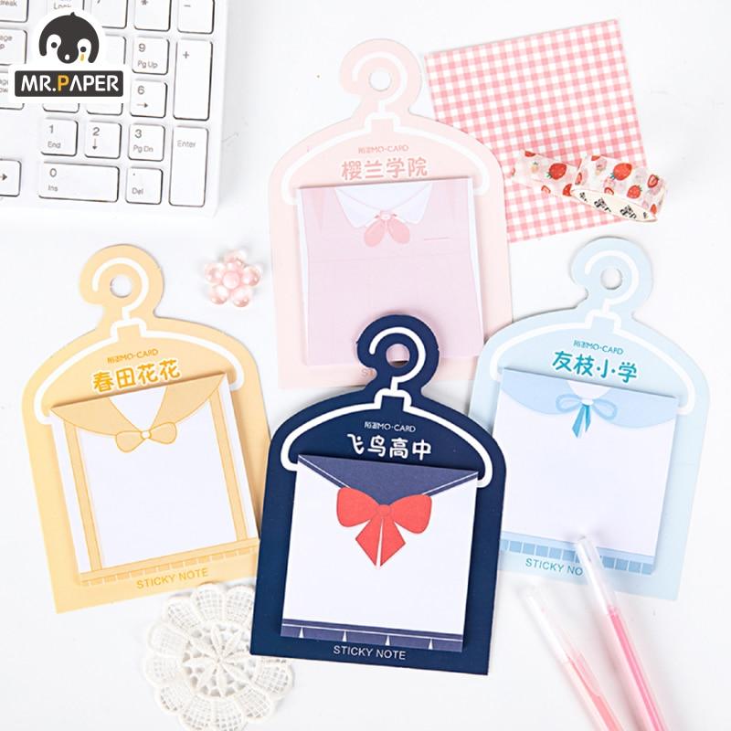 Mr.paper Japanese College Sakura Pink School Girlish Memory Stationery Self-Adhesive 30 Pcs Ins Pepalaria Office School Supplies