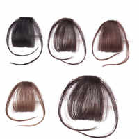 Allaosify pince en cheveux frange synthétique Air frange Invisible Extension droite avant soigné perruque pour les femmes fausse frange Extension de cheveux