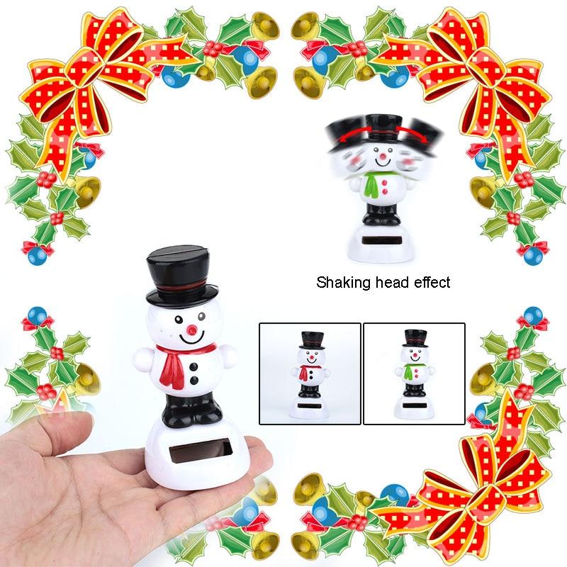 Пластиковый Солнечный снеговик, Рождественская машина, детские игрушки, хобби, игра для дома, милая Подарочная игрушка, декоративная подвесная Рождественская елка, поставка на Рождество