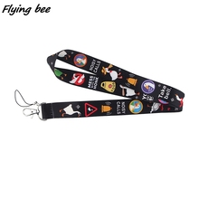 Keychain-Phone Lanyards Card-Holder Necklace Webbing Id-Badge Gym-Strap I'm Gift Goose
