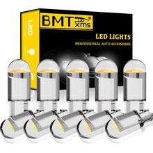 BMTxms 10 sztuk Auto T10 W5W wnętrza LED lampa kopułkowa dla Audi A1 A2 A3 8L 8P 8V A4 B5 B6 B7 B8 A5 8T A6 C5 C6 C7 A8 D2 Q3 8U Q5
