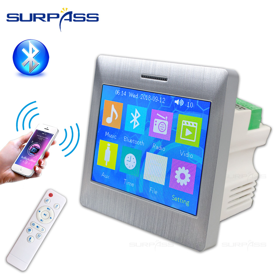 Wall Amplifier Audio Theater Cinema System Touch Screen Smart Home Office Hotel Wall Amplifier Audio