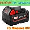 3 шт. оригинальный литий-ионный аккумулятор 18 в 12800 мАч для Milwaukee M18 48-11-1815 48-11-1850 2646-20 2642-21CT, аккумулятор M18