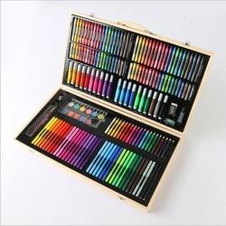 180 pcs super mega art set Niet giftig aquarel pen Creatief Leren briefpapier artistieke tekening sets gift voor kids