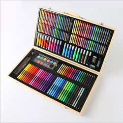 180 pcs super mega art set Non-toxic watercolor pen   Creative Learning stationery artistic drawing sets gift for kids