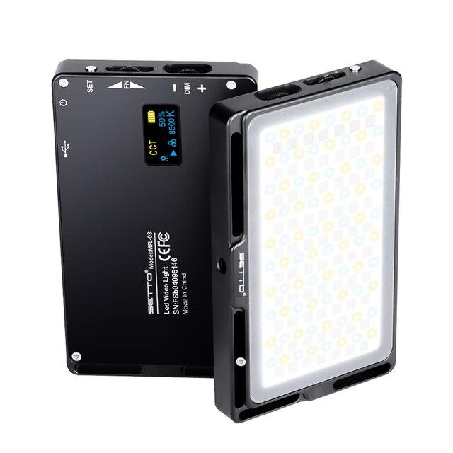 SETTO Colorful RGB LED Video Light Dimmable Full Color SCENE mode Studio Vlog Photography Lighting Pocketlite for DSLR Camera 1