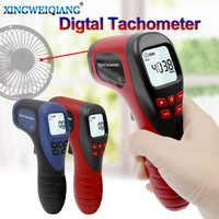 Tachymètre numérique LCD tachymètre Laser sans Contact Tach gamme 2.5-99999 tr/min moteur compteur de vitesse outils