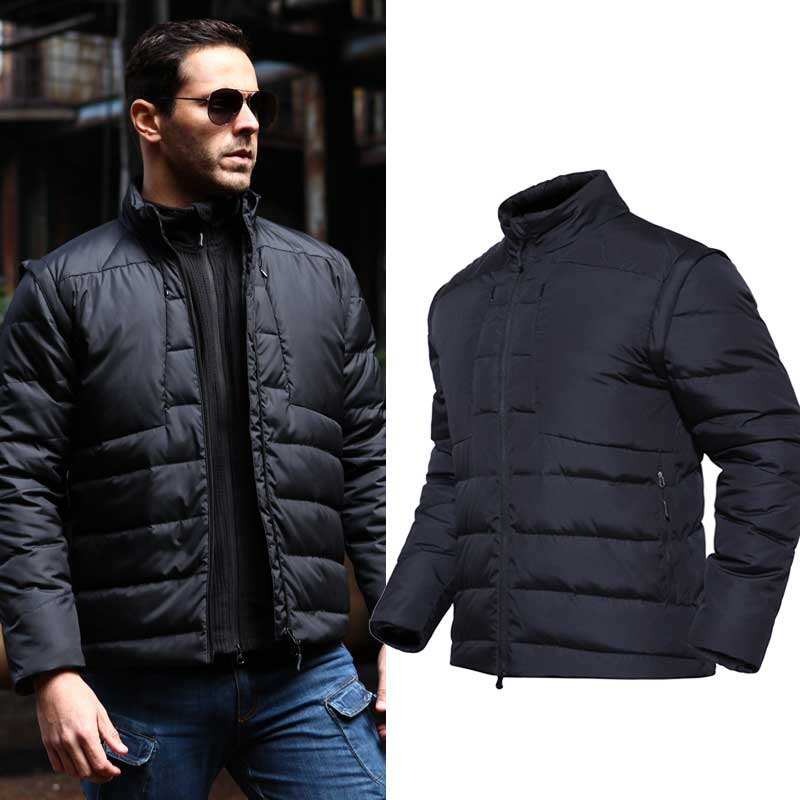 2019 PAVE-HAWK White Duck Down Jackets Removable Sleeves Camping Hiking Fishing Hunting Outdoor Keep Warm Down Unisex Light Vest