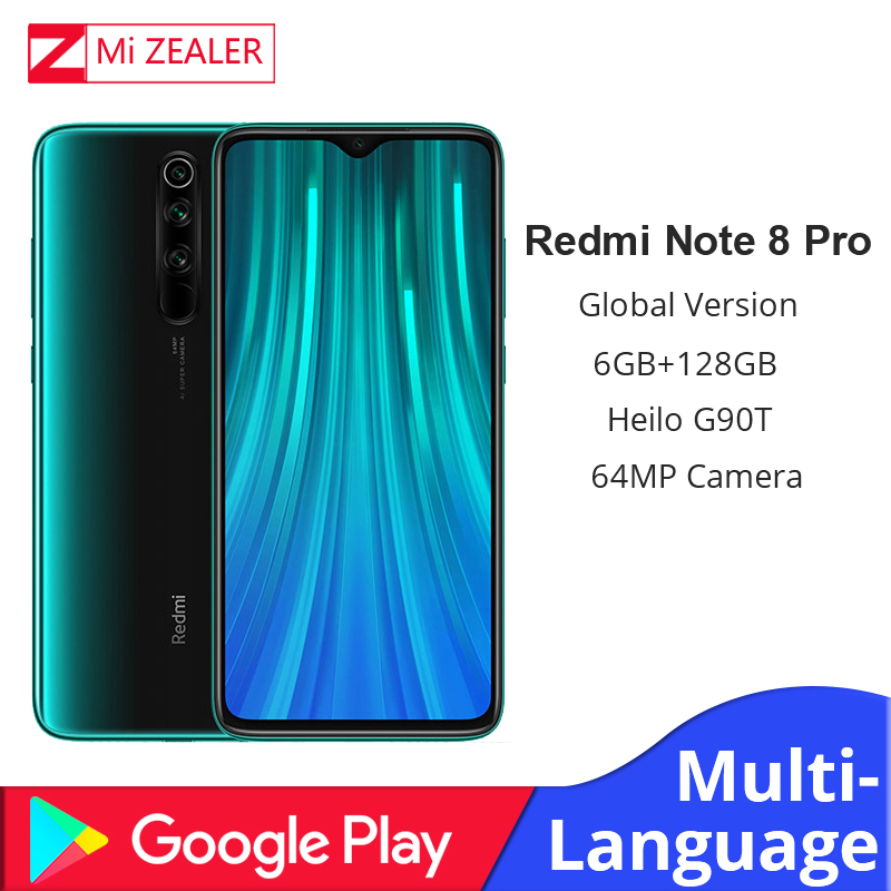 "In Stock!!! Global Versin Xiaomi Redmi Note 8 Pro 6GB RAM 128GB ROM MTK Helio G90T 6.53"" Moible Phone 64MP Camera Cellphone"