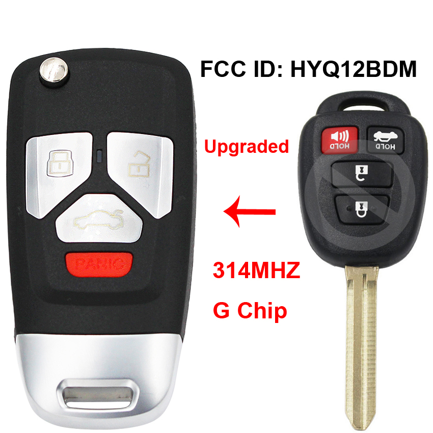 Folding Flip Upgraded Remote Car Key Fob 314Mhz G Chip FCC ID: HYQ12BDM P/N: 89070 52F60 for Toyota Camry 2012 2013 2014|Car Key| - AliExpress