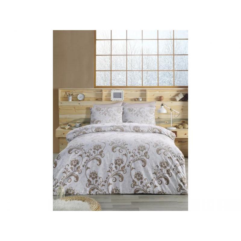 Bedding Set double-euro KARNA, RANFORCE, LUCIAN, Brown ranforce bedroom set cotton box ranforce bedroom set