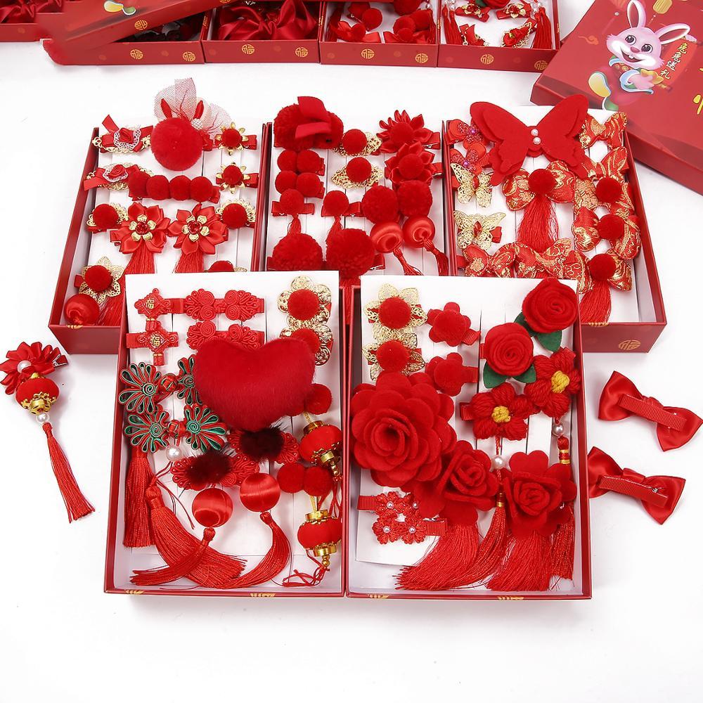 Китайские аксессуары для волос, свадебная заколка для волос в восточном стиле с бантом-кисточкой и помпоном, ювелирные изделия в подарок на ...