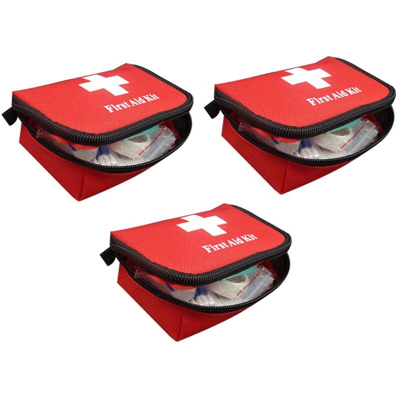 3 Sets Of Portable Travel First Aid Kit Outdoor Camping Emergency Medicine Bag Bandage Band-Aid Life Jacket Self-Defense