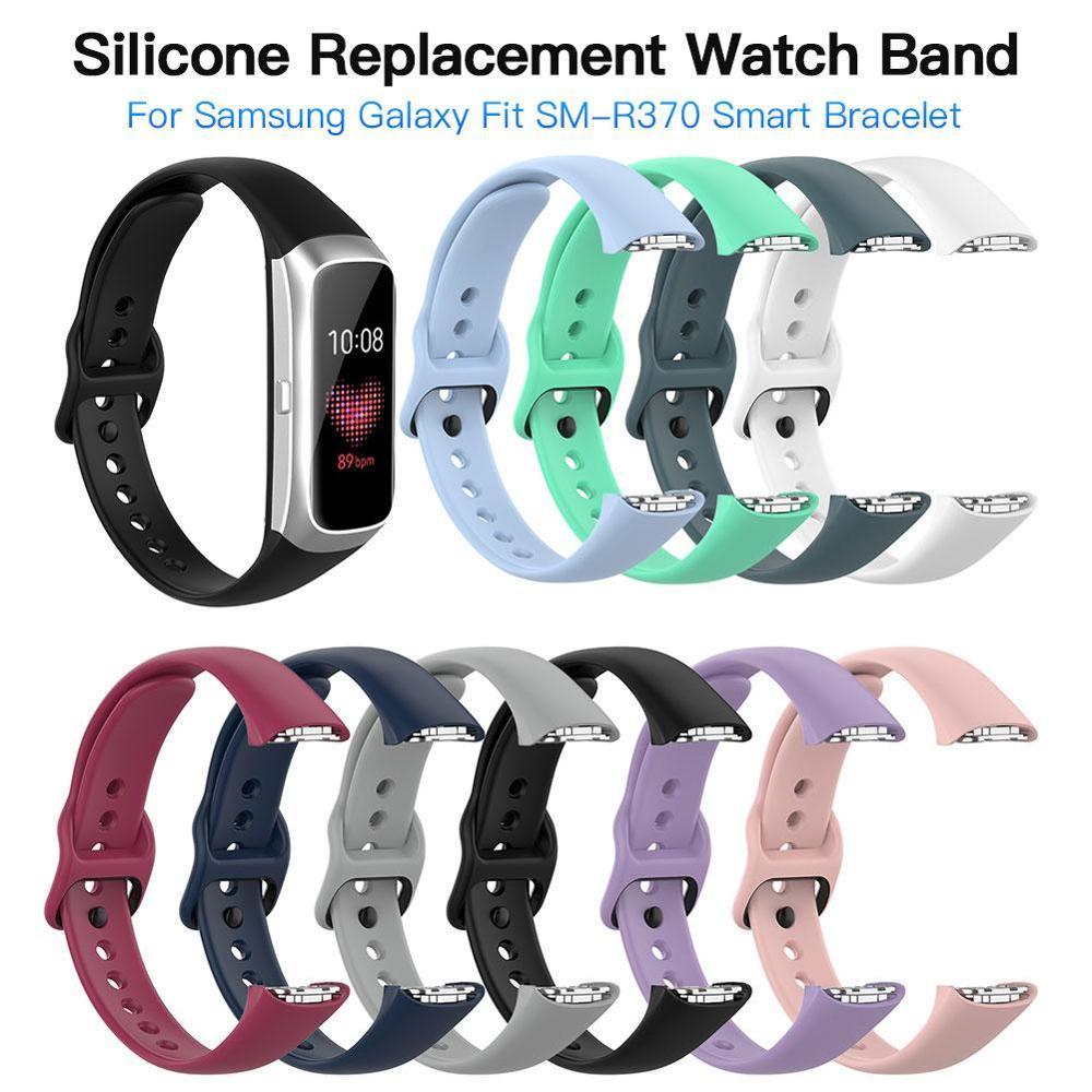 Silicone Sport Watch Band Strap For Samsung Galaxy Fit SM-R370 Smart Bracelet Watch Strap Accessories Wrist Band Strap